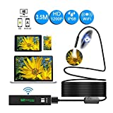 WiFi Endoscope Camera Mini Waterproof Hard Wire Wireless 8mm Lens 8 LED Borescope Camera for Android iOS PC HD 1200P 1-10M