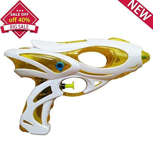 Water Gun Squirt Shooters Toy Guns for Summer Games - Yellow - 16' Abs Bath