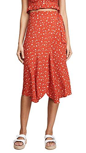 Faithfull The Brand Women's linnie Skirt, Bluebell Floral Print, X-Small by Faithfull