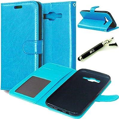 Amazon.com: Galaxy J5 Case, Galaxy J5 Wallet Case, ZZQ Blue ...