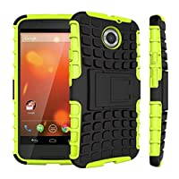 Motorola Moto X (2nd generation) Case, DRUnKQUEEn Heavy Duty Rugged Hybrid Armor Dual Layer Hard Shell Tire Tread Grenade Grip Combat Tyre Textured Cover with Kickstand