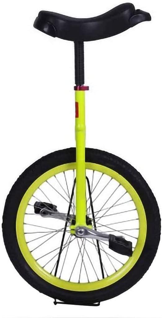 MLL Bicicleta de Equilibrio, Monociclo, Principiantes, niños, Adultos, Ajustable, Antideslizante, acrobático, Rueda, Equilibrio, Ejercicio de Ciclismo con Soporte, Regalo
