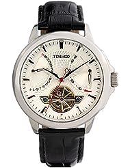 Time100 Mens Navigator-Series Tourbillon-Style Mechanical Self Wind Steel Watch W70035G.01A