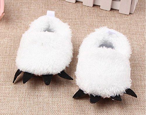 Zuerst Kinderwagen Schuhe Monster Unisex Niedlich Füße Wenig Baby Weiß Hausschuhe Krallen aUn8Z6