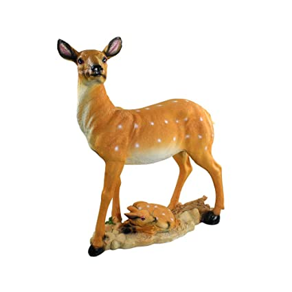 Amazon Com Danmu 1pc Polyresin Deer Statue Garden Statues