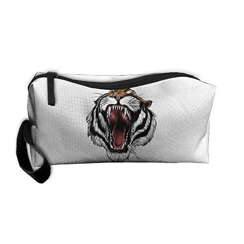 Cosmetic Bags Brush Pouch Makeup Bag Tiger Mouth Zipper Wallet Hangbag Pen Organizer Carry Case Wristlet Holder