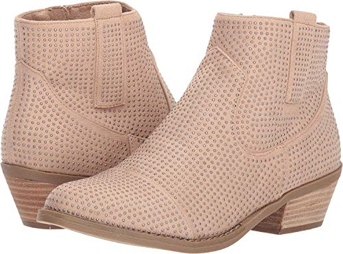 Report Womens Damzel Leather Almond Toe Ankle Fashion Boots, Pink, Size 11.0 ()