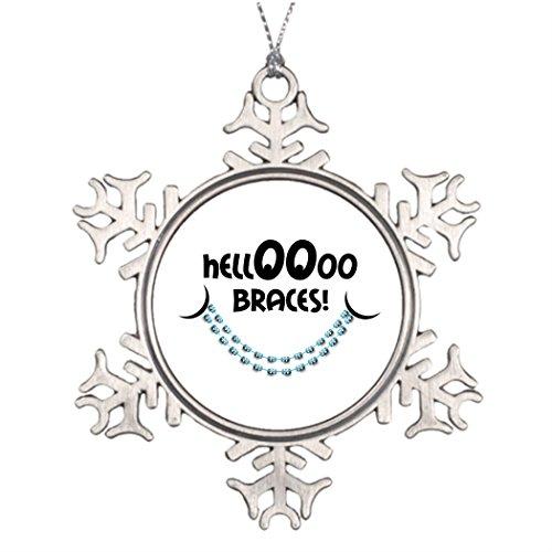 Saku Ya Merry Christmas From Heaven Snowflake Ornament Hello