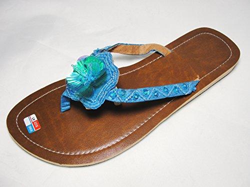 SAWA Flip Sandale Flora II Zehentrenner Zehenpantolette Türkis