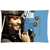 Johnny Depp As Captain Jack Sparrow Pillowcases Custom Pillow Case Cushion Cover 20 X 30 Inch Two Sides