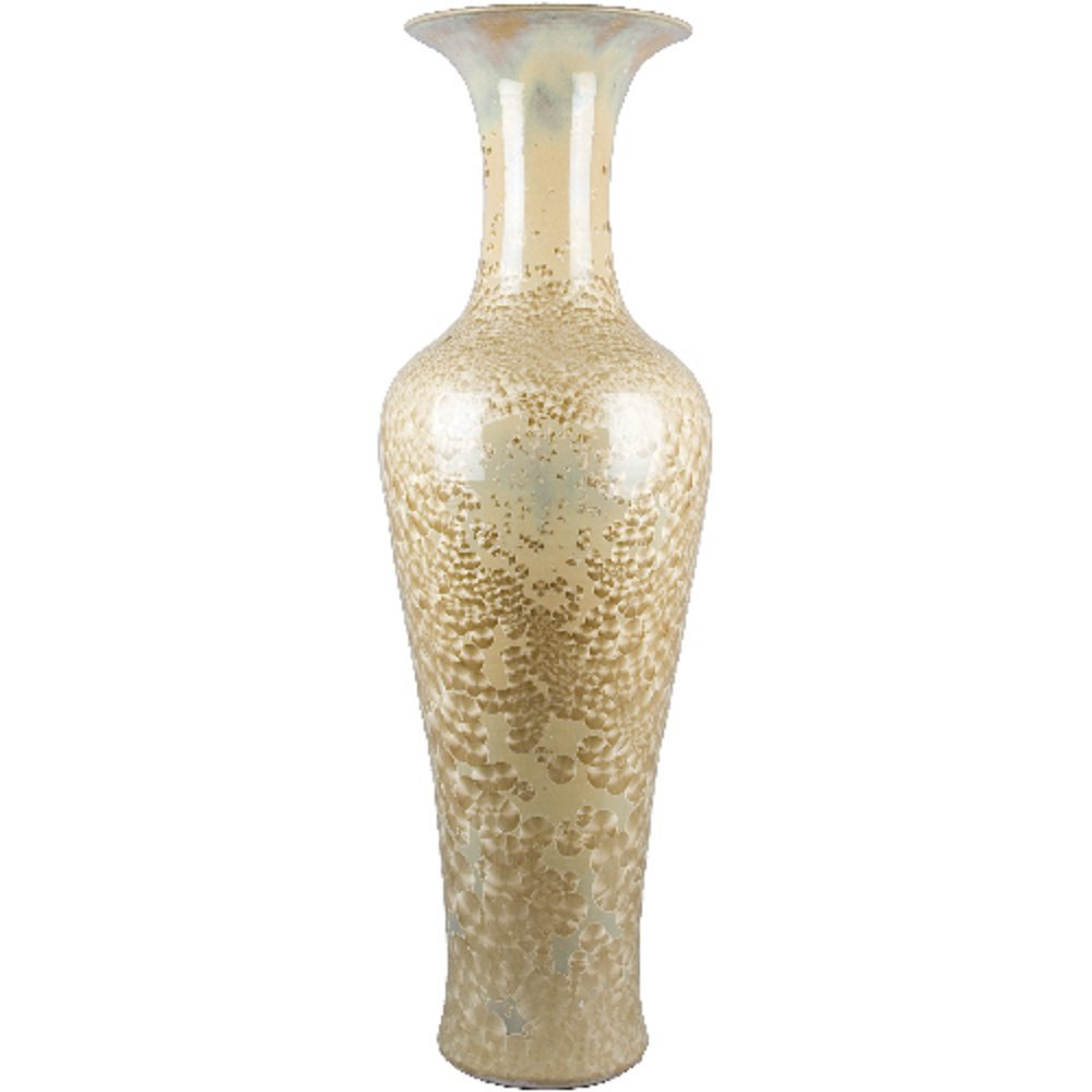Home decor. Ivory Vase. Dimension: 18 x 53. Pattern: Color Classic.
