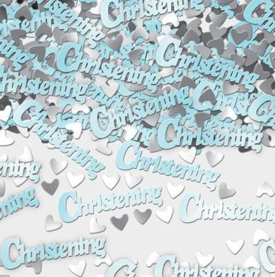 (Partyexplosion Christening Blue Table Confetti)