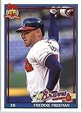 2016 Topps Archives #227 Freddie Freeman Atlanta Braves Baseball Card in Protective Screwdown Display Case