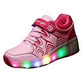 Christmas Kid Youth Girl Boy Light Up Wheels Roller Shoes Skates Sneakers Birthday Gift