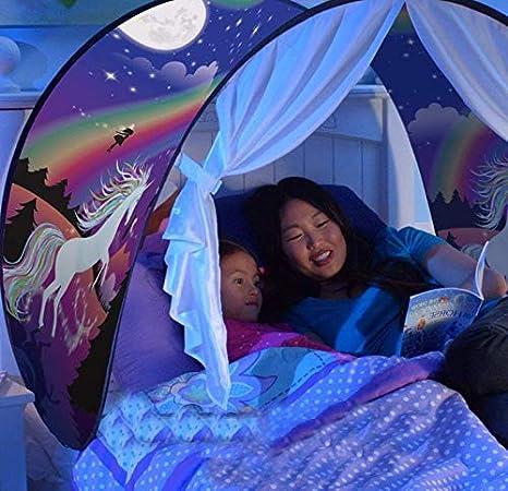 Einhorn Nifogo Traumzelt Bettzelt Drinnen Kinder Spielen Zelt Pop up-Zelt Schlafzimmer Dekoration