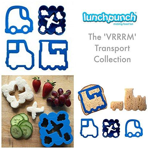 Lunch Punch Transport Shape Sandwich Cutters (Set of 4)