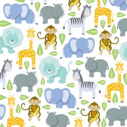 Jillson Roberts 1/2 Ream Recycled Gift Wrap, Baby Zoo, 416-Feet x 30-Inch (B268.50) by Jillson Roberts