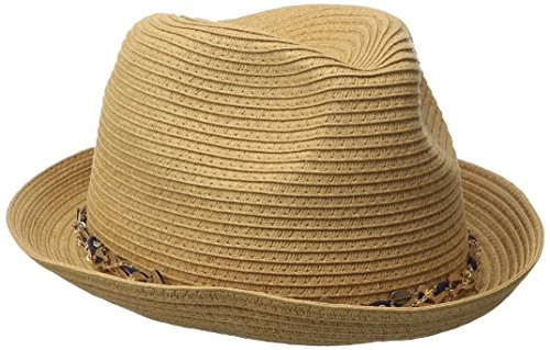 Genie by Eugenia Kim Women's Edie Fedora, Camel, One Size