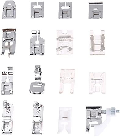 mikolot 16pcs multiusos para máquina de coser juego de pies prensatelas unirse a partes kit: Amazon.es: Hogar