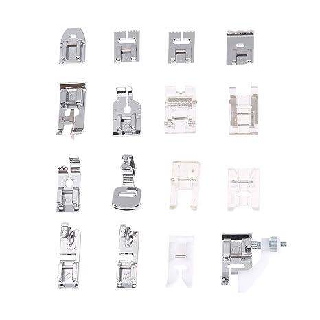 Prensatelas Accesorios para Máquina de coser Matefielduk 16pcs multi-uso máquina de coser doméstica Presser