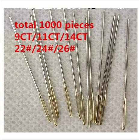 Embroidery Needles - 22# 24# 26# 1 Lot=1000 Pieces Embroidery Needle Cross Stitch Needlework Needle Discount Shop Best Choice by Embroidery Needles