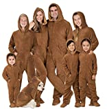 Footed Pajamas - Family Matching Chocolate Brown