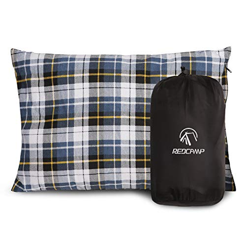 REDCAMP Outdoor Camping Pillow Lightweight, Flannel Travel Pillow Cases, Removable Pillow Cover]()