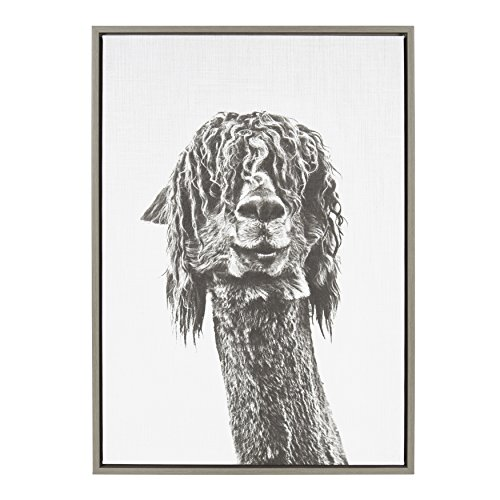 Kate and Laurel Sylvie Framed Canvas, 23x33, Gray