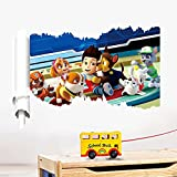 Shalleen Paw Patrol Dog 3D Wall Sticker Kids Room Cartoon Mural Decals Familly Home Decor