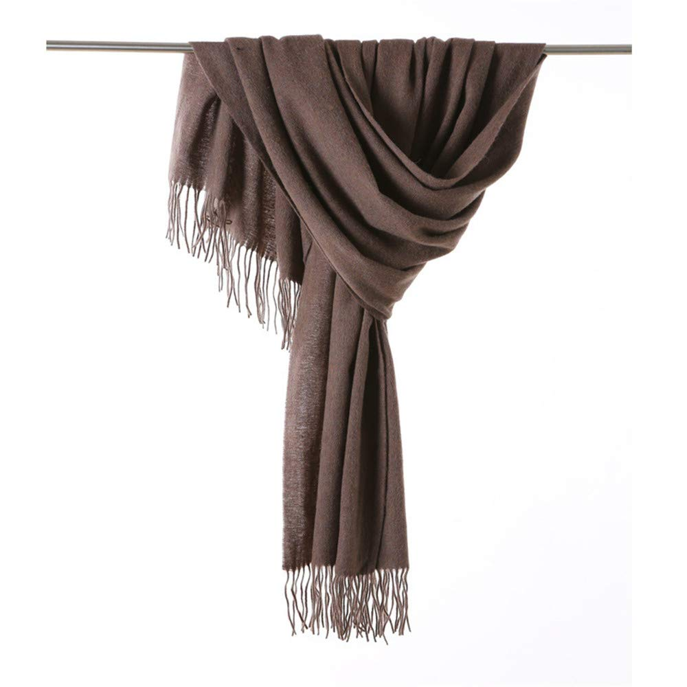 Women's Scarf Autumn and Seinter Wild Thick Warm Wool Scarf Dualuse Solid color Scarf