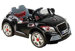 AATR BLACK, Los niños del coche, los niños del coche eléctrico, coche niños, 2x motor, batería de 12 V, con mando a distancia