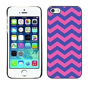 Cubierta de la caja de protección la piel dura para el Apple iPhone 5 / 5S - purple pink girly pattern