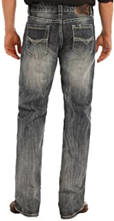 1801c14dfcd Rock & Roll Denim Men's Relaxed Fit Double Barrel Straight Leg Mid Wash  Western Jeans