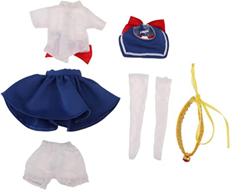 1//6 Trendy Dolls Sailor Moon Clothes for 12/'/' Blythe Azone Doll Accessories
