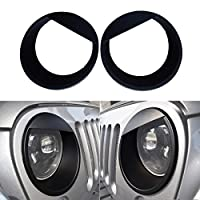 ICARS Front Headlight Cover Bezels for 07-17 Jeep Wrangler JK unlimited Rubicon Sahara Accessories
