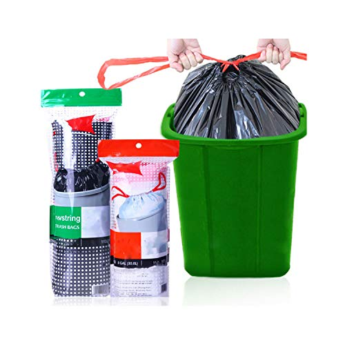 Garbage Bags Drawstring Large Rubbish Waste Trash Bags Strong Thickening PE Material,432x457MM