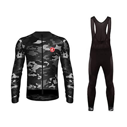 Uglyfrog Newest Long Sleeve Cycling Jersey + Bib Tight Complete Sets with  Gel Pad Men s Outdoor 01c4baf7e