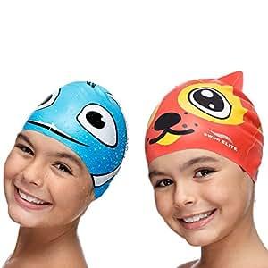 Amazon.com : Fun Swimming Cap Kids & Toddlers - Youth Swim