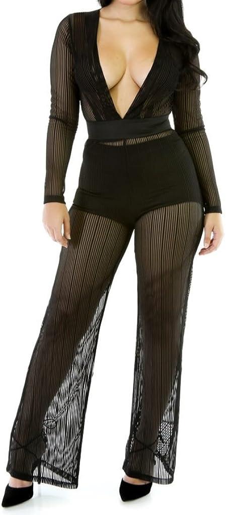 Kim K Stripe Flair Legs Jumpsuit