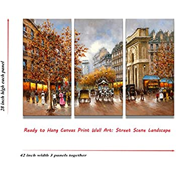 Amazon.com: Canvas Wall Art- 3 panels Large Wall Art \