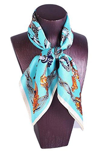 DD.UP Womens Fashion Soft Patterned Scarf Small Square Silk Shawl Scarves