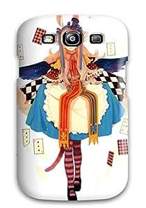 RonRyanClark Perfect Tpu Case For Iphone 5c/ Anti-scratch Protector Case (women Cards Dress Alice Pixiv Bunny Ears White Striped Legwear)