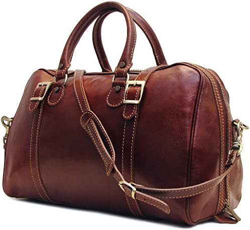 Floto Luggage Trastevere Duffle Travel Bag, Vecchio Brown, Medium