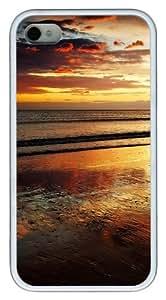 iPhone 4S Case,Evening Sunset TPU Custom iPhone 4/4S Case Cover Whtie