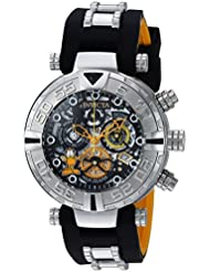 Invicta Mens Character Collection Quartz Stainless Steel and Silicone Casual Watch, Color:Two Tone (Model:...