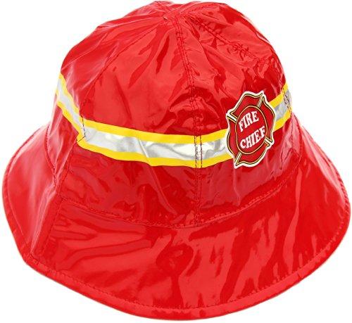 Little Boy's Fire Chief Rain Hat