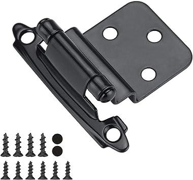 10 Pair 20 Pack Self Close Hinges /—/— Cabinet Hinges Black SCH30BK homdiy Black Hinges for Cabinet Doors.
