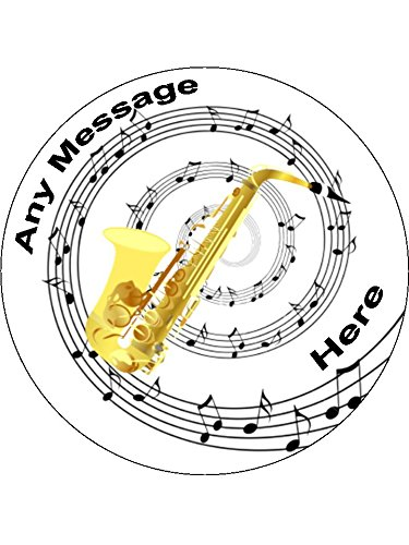 51xJuHKREhL._SL500_ novelty saxophone 12 edible stand up wafer paper cake toppers (5 on printable music note cake topper