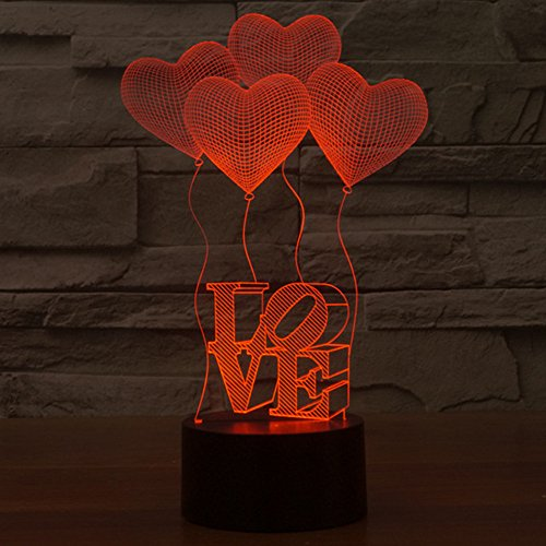 Wooden Heart Led Lights - 2