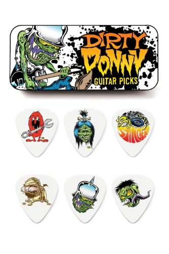 Dunlop BL111T1.0 Dirty Donny Series 1 Pick Tin, Assorted, 1.0mm, 6 Picks/Tin (Series 0 Tin)